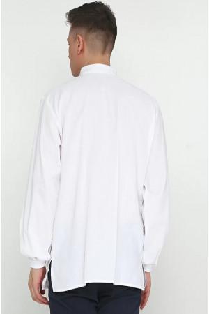 Вышиванка мужская «Ставр» белого цвета