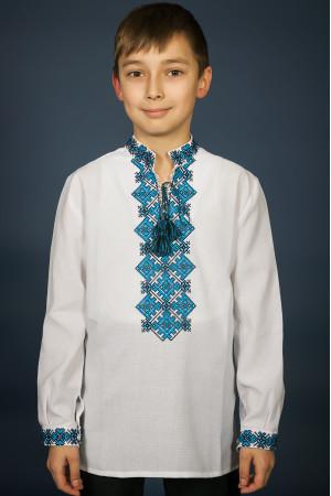 Вышиванка для мальчика «Ростислав» белого цвета