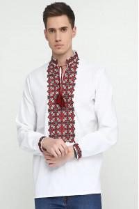 Вышиванка мужская «Архип» белого цвета