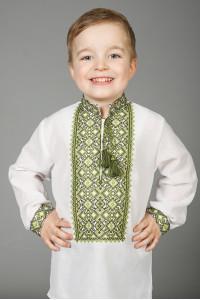 Вишиванка для хлопчика «Нестор» білого кольору