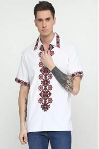 Вышиванка мужская «Сквыра» белого цвета