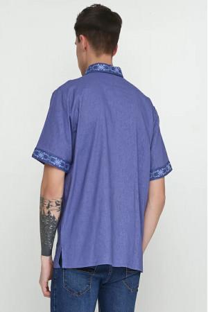 Вышиванка мужская «Сквыра» синего цвета