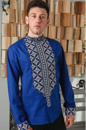 Вышиванка мужская «Демид» синего цвета