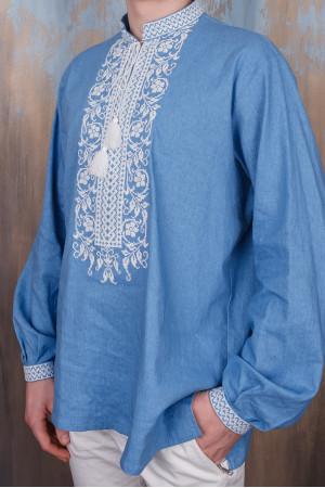 Вышиванка для мальчика «Днестр» голубого цвета