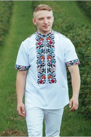 Вишиванка чоловіча «Василько» білого кольору