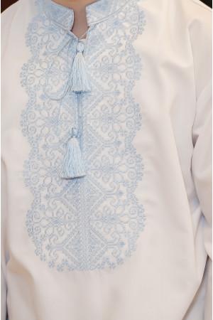 Вышиванка для мальчика «Илько» белого цвета