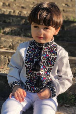 Вишиванка для хлопчика «Скалат» блідо-бузкового кольору