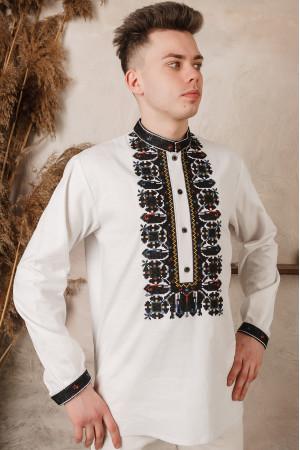 Вышиванка мужская «Артем» светло-бежевого цвета
