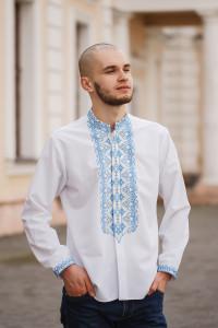 Вишиванка чоловіча «Борис» білого кольору