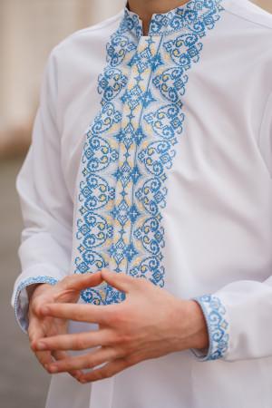 Вышиванка мужская «Борис» белого цвета