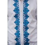 Вишиванка для хлопчика «Устин» з блакитним орнаментом