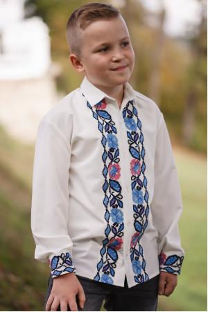 Вышиванка для мальчика «Паныч» белого цвета