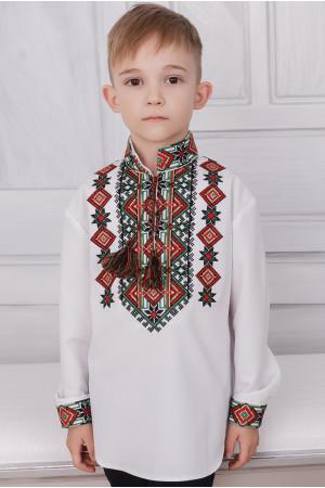 Вишиванка для хлопчика «Аскольд» білого кольору