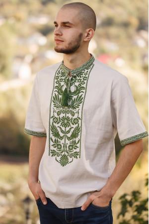 Вишиванка чоловіча «Дерево роду» бежевого кольору