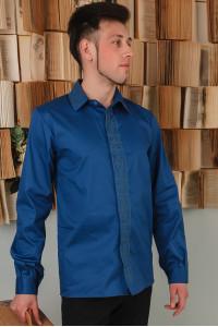 Вышиванка мужская «Сивер» синего цвета