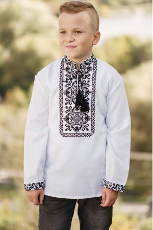 Вышиванка для мальчика «Рома» белого цвета