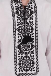 Вишиванка чоловіча «Роман» білого кольору