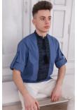 Вишиванка чоловіча «Джура» кольору джинс