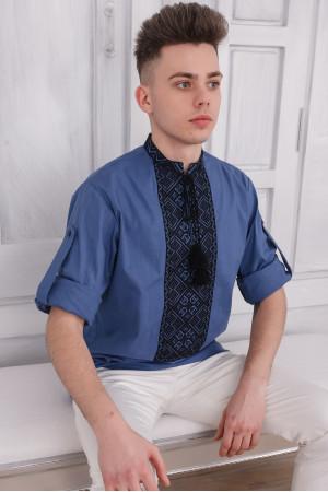 Вышиванка мужская «Джура» цвета джинс