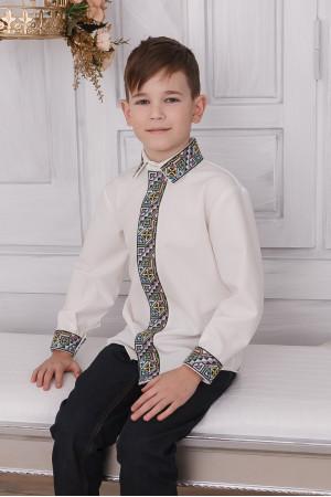 Вишиванка для хлопчика «Самійло» молочного кольору