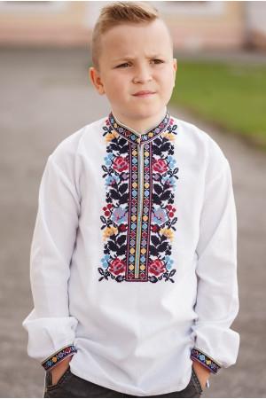 Вишиванка для хлопчика «Максимко» білого кольору