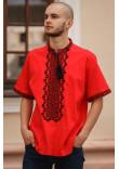 Вишиванка чоловіча «Степовик» червоного кольору
