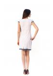Сукня «Шовкова косиця» з блакитною вишивкою