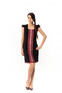 Платье «Шелковая косица» черного цвета