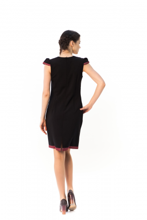 Сукня «Шовкова косиця» чорного кольору