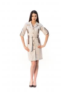 Лляна сукня-халат