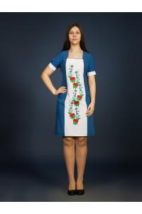 Платье «Маковая лента» синего цвета