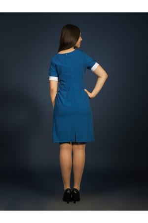 Сукня «Макова стрічка» синього кольору