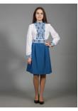 Сукня «Вишукана геометрія» синього кольору