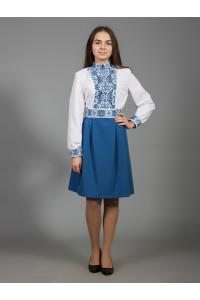 Платье «Изысканная геометрия» синего цвета