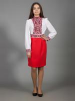 Платье «Изысканная геометрия» красного цвета