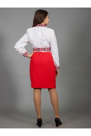 Сукня «Вишукана геометрія» червоного кольору