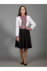 Платье «Изысканная геометрия» черного цвета