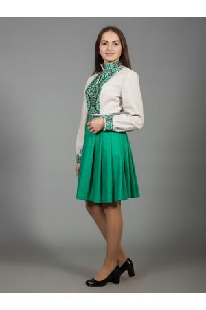 Сукня «Вишукана геометрія» зеленого кольору