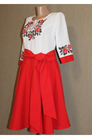 Сукня «Трояндовий вінок» червоного кольору