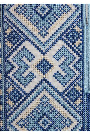 Вышиванка для мальчика «Берегиня» с голубым орнаментом
