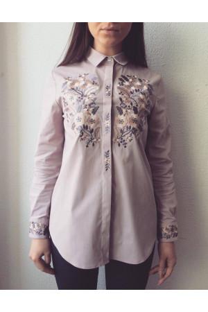 Блуза «Цвіт» відтінку димчастої троянди