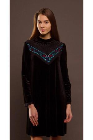 Платье «Бархат» черного цвета
