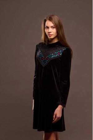 Сукня «Оксамит» чорного кольору