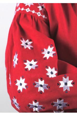 Вишиванка «Зоря» червоного кольору