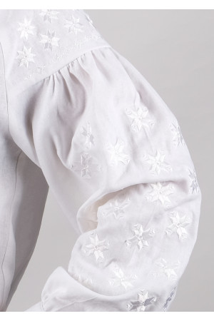 Вишиванка «Зоря» білого кольору