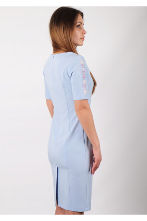 Платье «Мира» голубого цвета