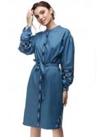Платье «Геометрия» синего цвета