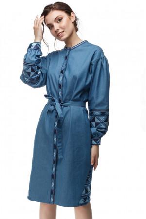 Сукня «Геометрія» синього кольору