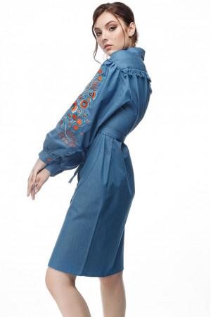 Платье «Шиповник» цвета джинс