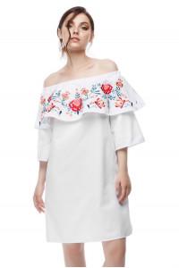 Платье «Мечтательное» белого цвета